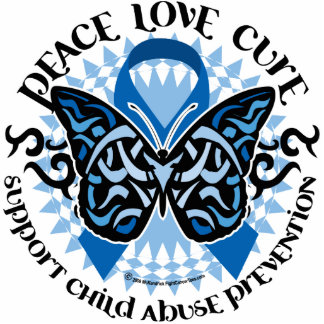 Child Abuse Prevention Butterfly Tribal Statuette