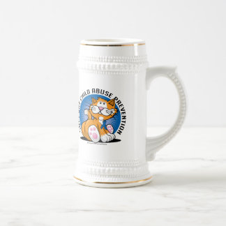 Child Abuse Prevention Cat Beer Stein