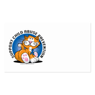Child Abuse Prevention Cat Business Card