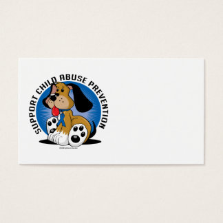 Child Abuse Prevention Dog Business Card