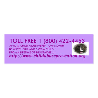 Child Abuse Prevention Mini Business Card