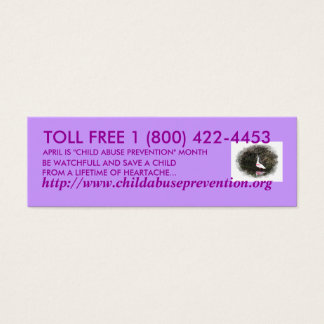 Child Abuse Prevention Mini Business Card
