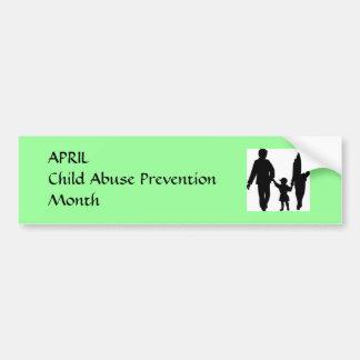 Child Abuse Prevention Month Car Bumper Sticker