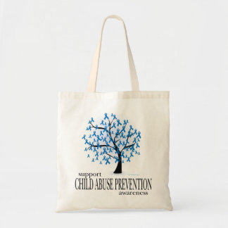 Child Abuse Prevention Tree Canvas Bags