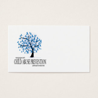 Child Abuse Prevention Tree Business Card