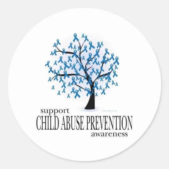 Child Abuse Prevention Tree Classic Round Sticker