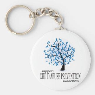Child Abuse Prevention Tree Keychain