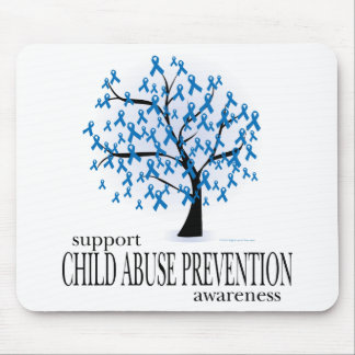 Child Abuse Prevention Tree Mouse Pad