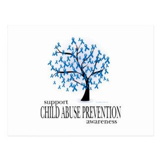 Child Abuse Prevention Tree Postcard