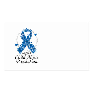 Child Abuse Ribbon of Butterflies Business Card