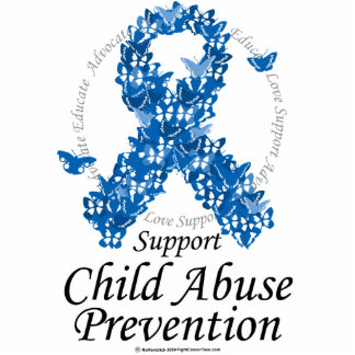 Child Abuse Ribbon of Butterflies Statuette