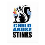 Child Abuse Stinks Postcard
