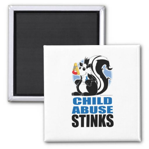 Child Abuse Stinks Refrigerator Magnets
