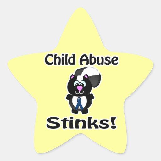 Child Abuse Stinks Skunk Awareness Design Sticker