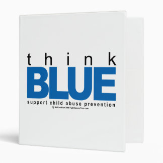 Child Abuse THINK Blue Binder