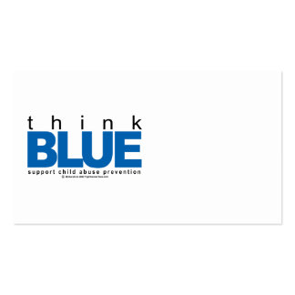 Child Abuse THINK Blue Business Card