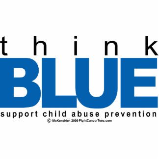 Child Abuse THINK Blue Statuette