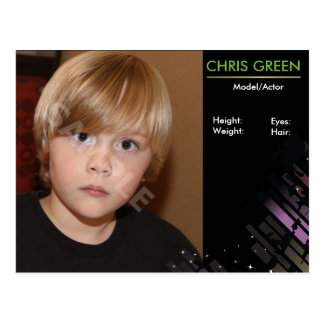 Child Actor Headshot Comp Card Template