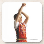 child african american male basketball player in beverage coaster
