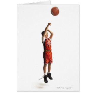 child african american male basketball player in greeting card
