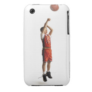 child african american male basketball player in iPhone 3 case