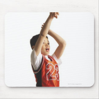 child african american male basketball player in mouse pad