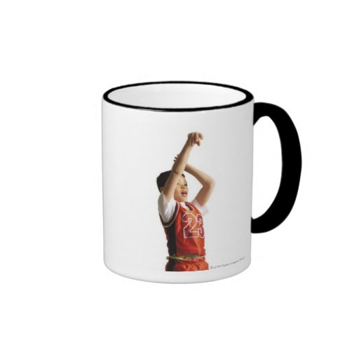 child african american male basketball player in coffee mugs