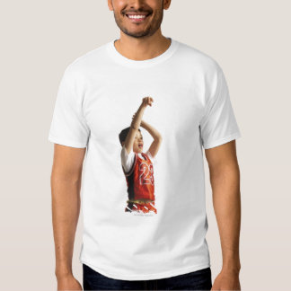 child african american male basketball player in shirt