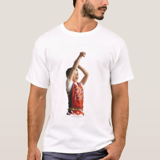 child african american male basketball player in T-Shirt