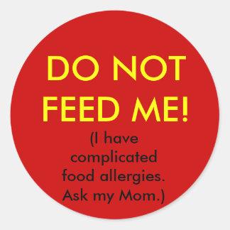 Child Allergy Safety Sticker