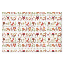 Child and Animals Pattern Tissue Paper