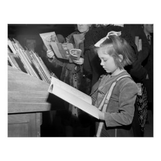 Child and Book, Week Before Christmas Posters