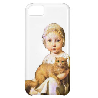 child and cat- vintage case for iPhone 5C