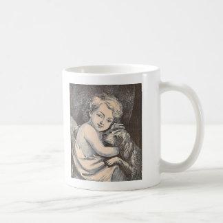 Child and Dog Coffee Mug