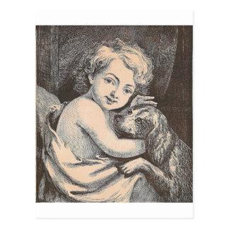 Child and Dog Postcard