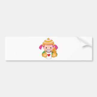 Child and Hot Chocolate Bumper Sticker