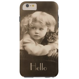 Child and Kitty iPhone 6 Plus Case