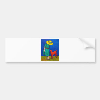 Child and Lamb by Piliero Bumper Sticker
