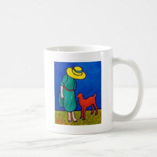 Child and Lamb by Piliero Coffee Mug