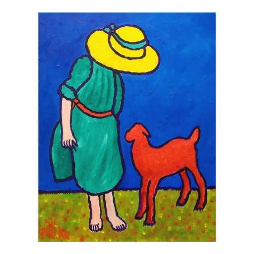 Child and Lamb by Piliero Flyer