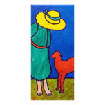 Child and Lamb by Piliero Full Color Rack Card