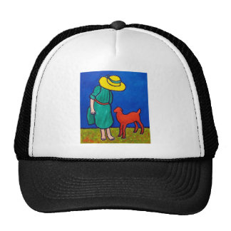 Child and Lamb by Piliero Mesh Hat