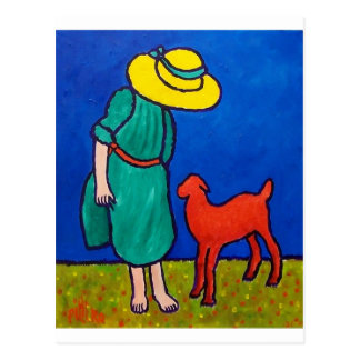 Child and Lamb by Piliero Postcard