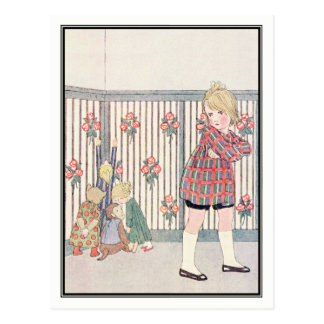 Child and Naughty Toys by H. Willebeek Le Mair Postcard