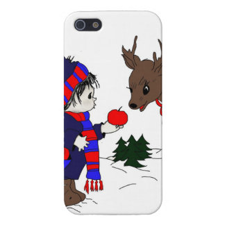 child and reindeer case for iPhone SE/5/5s