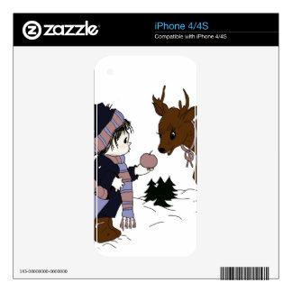 child and reindeer skins for iPhone 4S