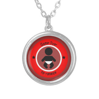 Child and the end of the romance silver plated necklace
