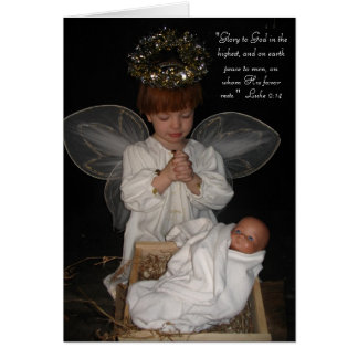 Child Angel Christmas Card