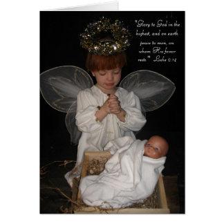 Child Angel Christmas Card