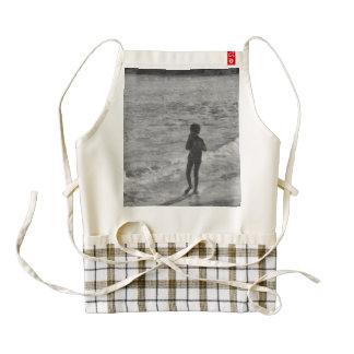 Child at beach zazzle HEART apron